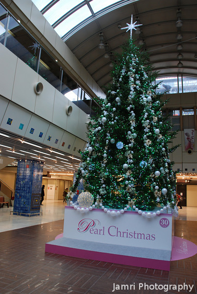 Pearl Christmas.<br /> The special peal Christmas tree to celebrate 30 years of the Plaza Port shopping arcade.