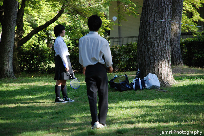 Sports at the Imperial Palace Park.