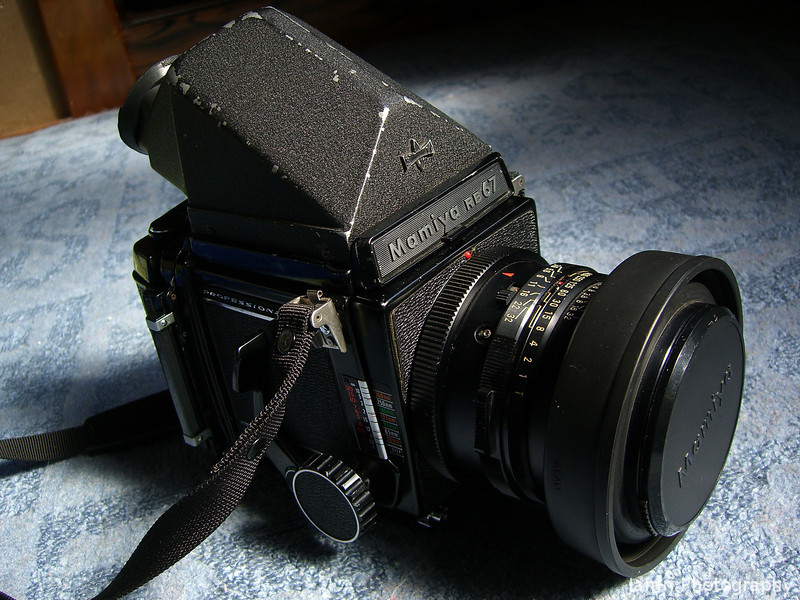 """Mamiya 67. My friend's uncle kindly gave me this classic medium format film (image size 68mm x 56mm) camera. It uses 120 sized film which is not too difficult to find in Japan. <A href=""""http://jamri.smugmug.com/Medium-Format/Mamiya-RB67-Sample-Photos/"""">Check out my gallery of shots taken with this camera here.</A>"""