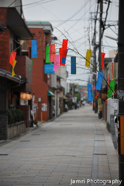 "Looking down the Northern End of Saigokukaido. And more <A href=""http://en.wikipedia.org/wiki/Tanabata"">Tanabata Festival</A> decorations."