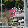 The Red House.<br /> Shot while I was hiking with the Nagaokakyo Hiking Club, this Red House stands out amongst the usual greys, beiges, creams, and browns of houses in the area.