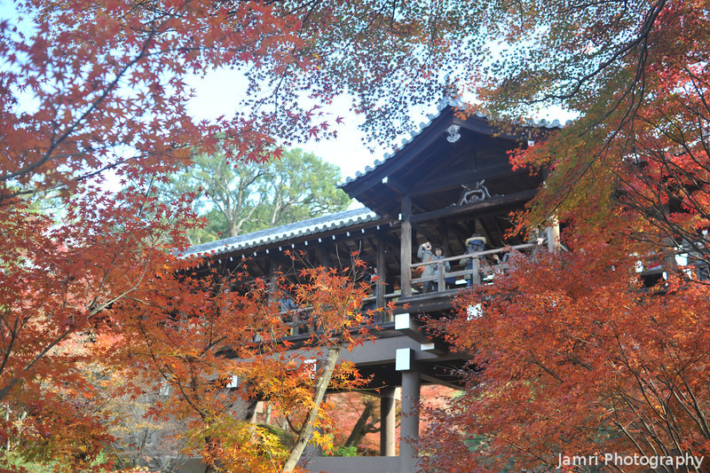 The Bridge framed by Maples.<br /> At Tofuku-ji, Higashiyama, Kyoto.