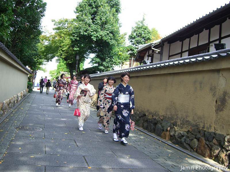 More Ladies in Kimonos.<br /> In the Streets of Higashiyama.
