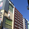 Colourful buildings along Kawaramachi-dori.