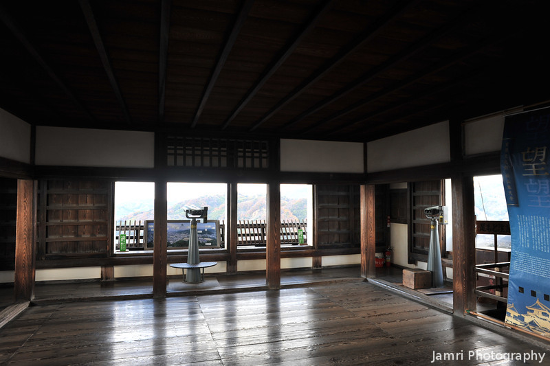 The Top Floor of Matsuyama Castle.