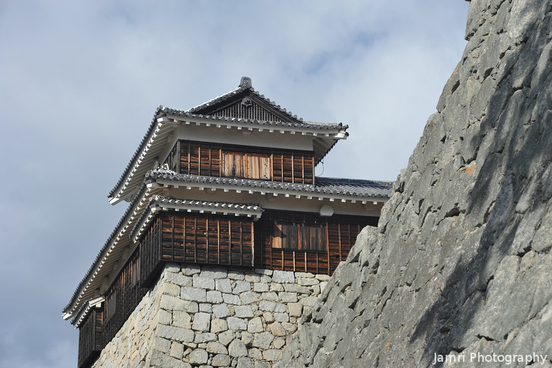One of the small turrets.<br /> At Matsuyama Castle.