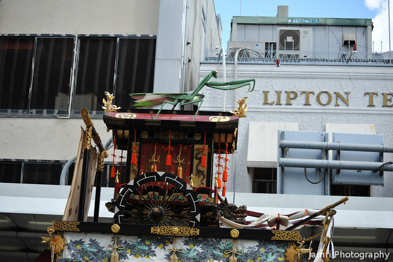 The Preying Mantis Float.<br /> At the Gion Matsuri, in Kyoto.