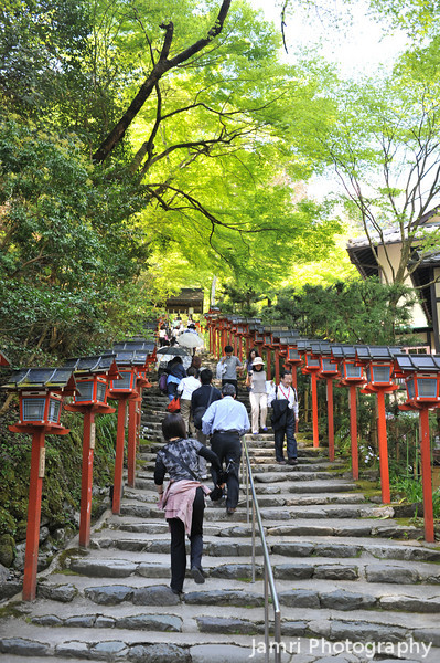 The Stairway to Kifune Shrine.<br /> Note: Circular Polarising Filter Used.