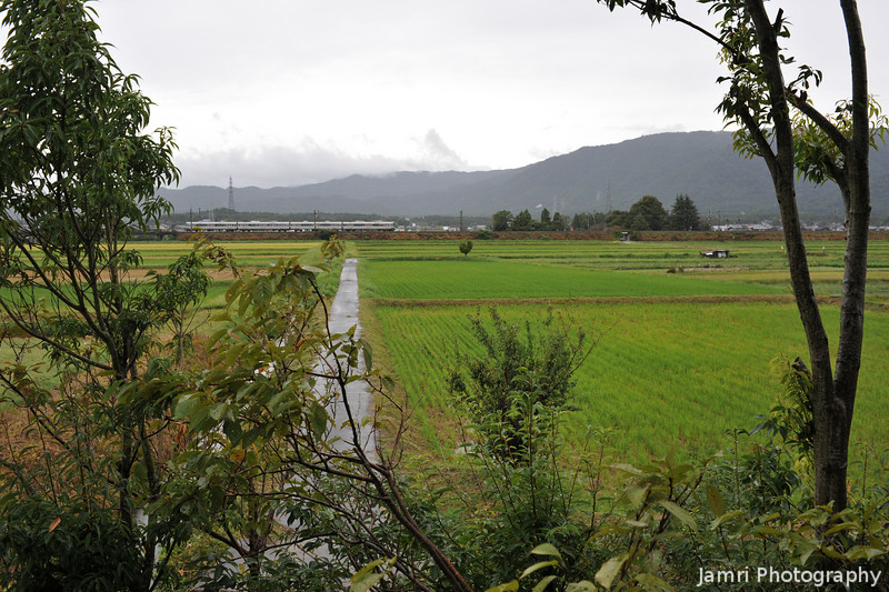 A shot out of the window.<br /> Of my friends living room in Omi-Imazu, Shiga Prefecture, Japan.<br /> If you view at large size you can even see a train in the distance!