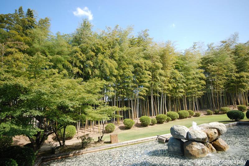 Garden at the Suntory Brewery.