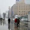 Walking in Sapporo.