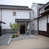 Inside a courtyard.<br /> Of one of the traditional houses in Kurashiki, Okayama-ken.