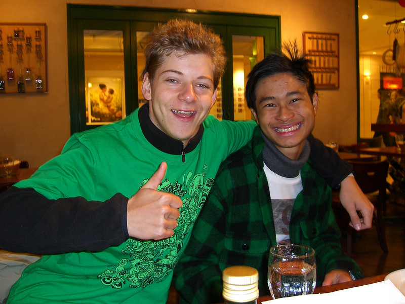 Jayden and Jonathan.<br /> While Dave was in Tokyo we were visited by two more people on a mission trip from Perth Australia (since this time of year is summer holidays in Australia). It was a brief time with J&J, compared with Dave, but we still had some great times, and they got to see some of the work God is doing in Nagaokakyo and beyond. This photo was taken at a dinner we had at a nice Italian Restaurant in the Kyoto Station Complex.Thank you guys for making the trip.