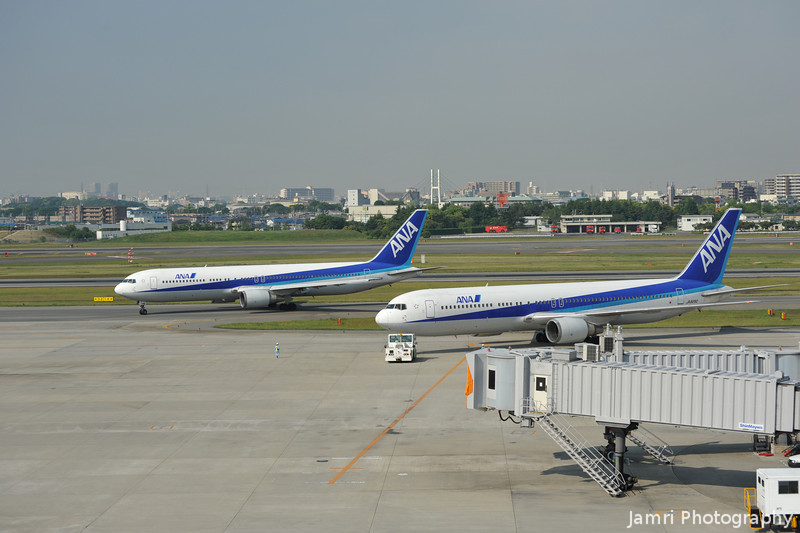 Two ANA Boeing 767s