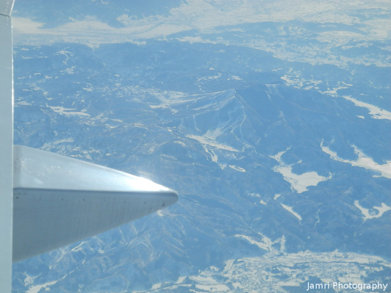 Flying Over the Japan Alps.