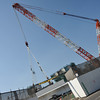 The Big Crane.<br /> This crane is used to place big pieces of road on the new express way construction.