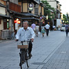 Cycling through Gion.
