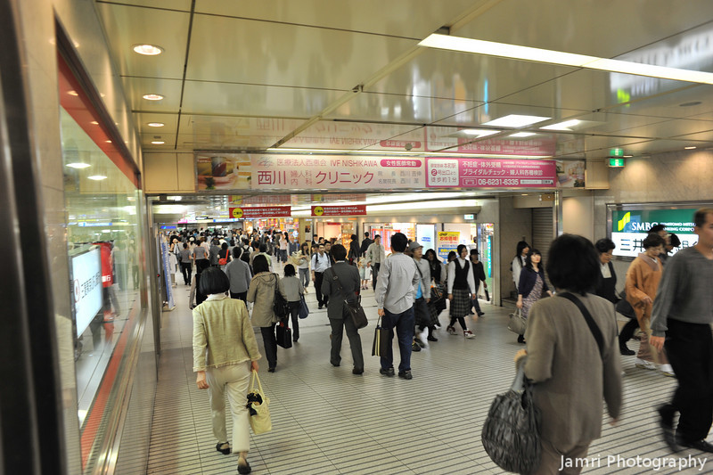 Towards the Subway Station.<br /> The Underground Passage that leads from Hankyu Umeda Station to the Subway Station.