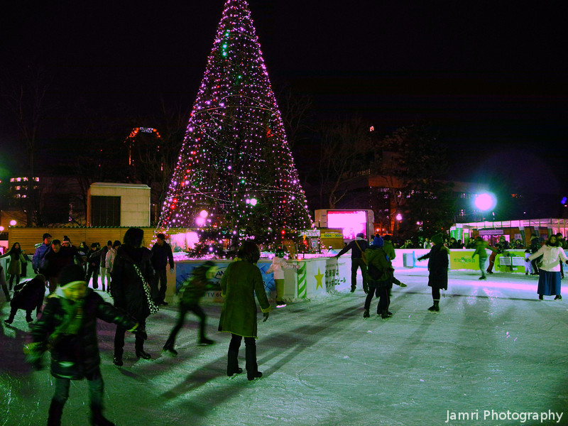 Ice Skating Ring.<br /> At the Sapporo Snow Festival (Yuki Matsuri).