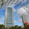 Buildings Framed.<br /> From a park in Kobe.