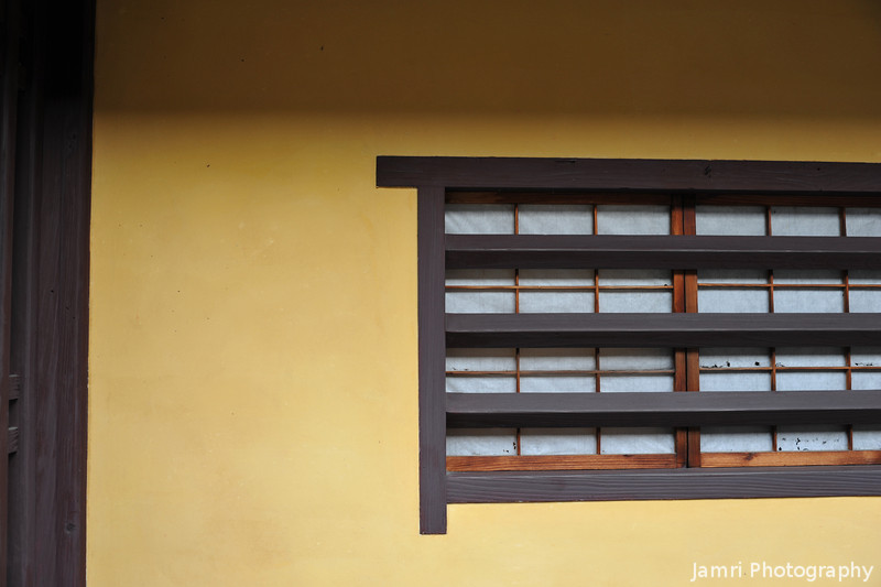 "Window of a traditional house.<br /> In Takayama city's ""Little Kyoto""."