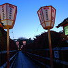 Laterns at Tenmangu.<br /> During the Azalea blossoming the lanterns were lit up at Nagaoka Tenmangu Shrine, in Nagaokakyo.
