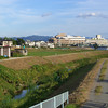 Along the River.<br /> Looking towards the Nagaokakyo Azalea Aged Care Facility.
