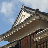 A close up of one of the outer buildings of Matsuyama Castle.