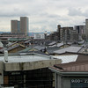 A View of Nagaokakyo from Hankyu Nagaoka Tenjin Station.<br /> The Murata office tower to left of the photo in the distance is right next to the JR Nagaokakyo Station.