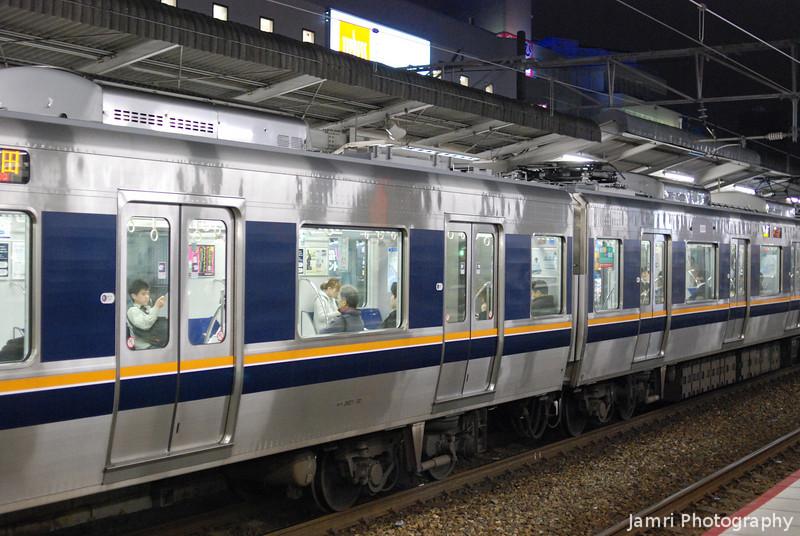 Night Train.<br /> At JR Takatsuki Station.