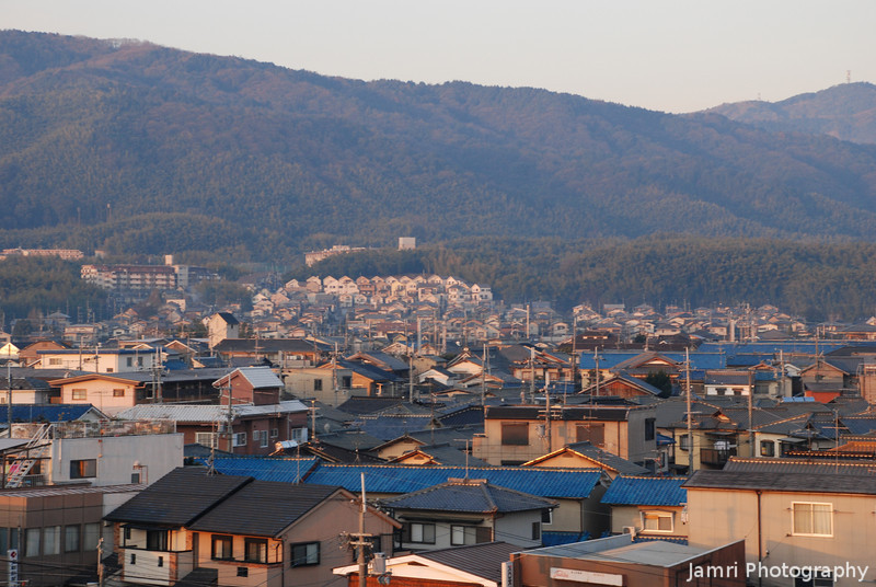 """A Closer look at the West Side of Nagaokakyo.<br /> Taken from on top of """"Fune Mansion"""" (an apartment block which looks like a ship, Fune is ship in Japanese)."""