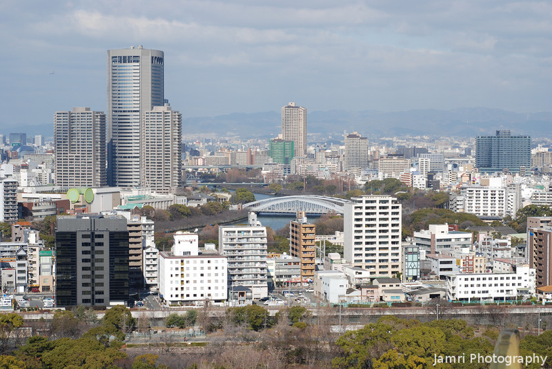 The View to the North.<br /> From Osaka Castle.