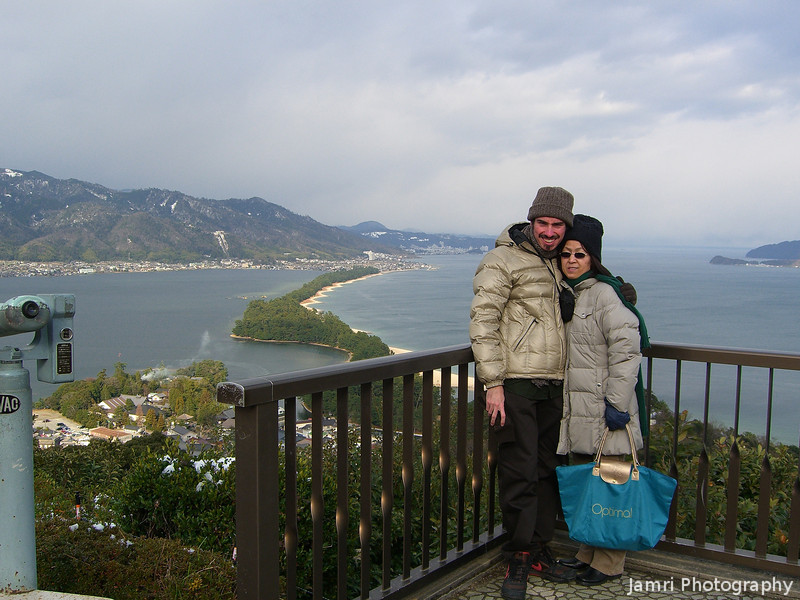 Us at Amanohashidate.<br /> Photographer Unknown.
