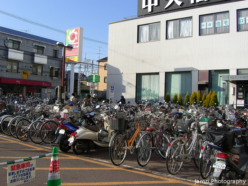 A busy shopping day at Izumiya.<br /> The bike park was chock-a-block at Izumiya on this Sunday afternoon.