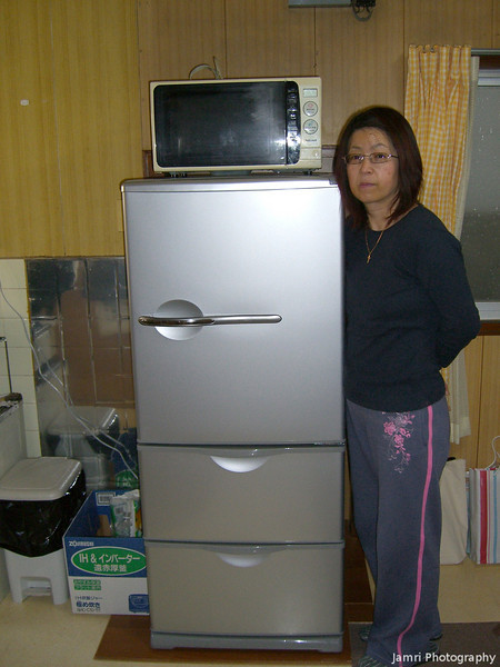 The New Fridge.<br /> Big enough for the warmer half of the year.