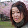 Ritsuko at the Pink Sakura Park.
