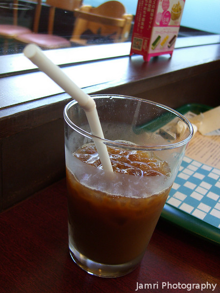 Ice Coffee.<br /> Once the weather warms up, there's nothing quite as refreshing as the Ice Coffee they serve in Japan. This particular Ice Coffee was at MOS Burger.