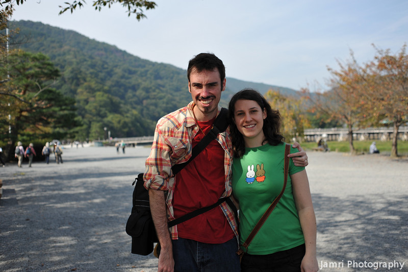 With My Sister Melissa in Arashiyama.<br /> Photo by Ritsuko.