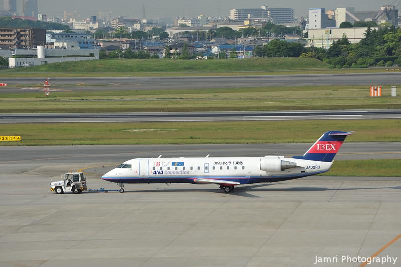 IBEX Canadair Regional Jet CRJ100 at Itami Airport.