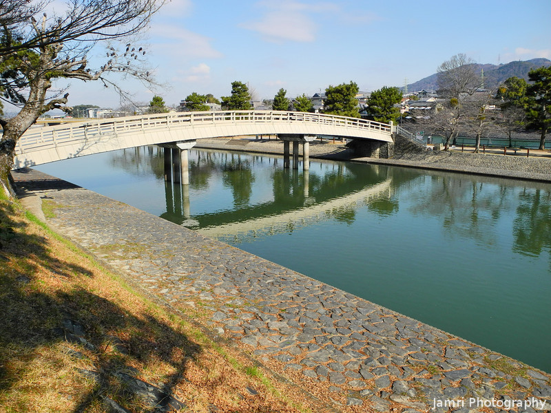 A Bridge in Uji.<br /> On clear winter's morning.