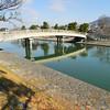 A Bridge in Uji.<br /> On clear winter's morning.