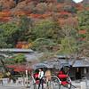 Waiting for some tourists.<br /> A rickshaw driver in Arashiyama, Kyoto.