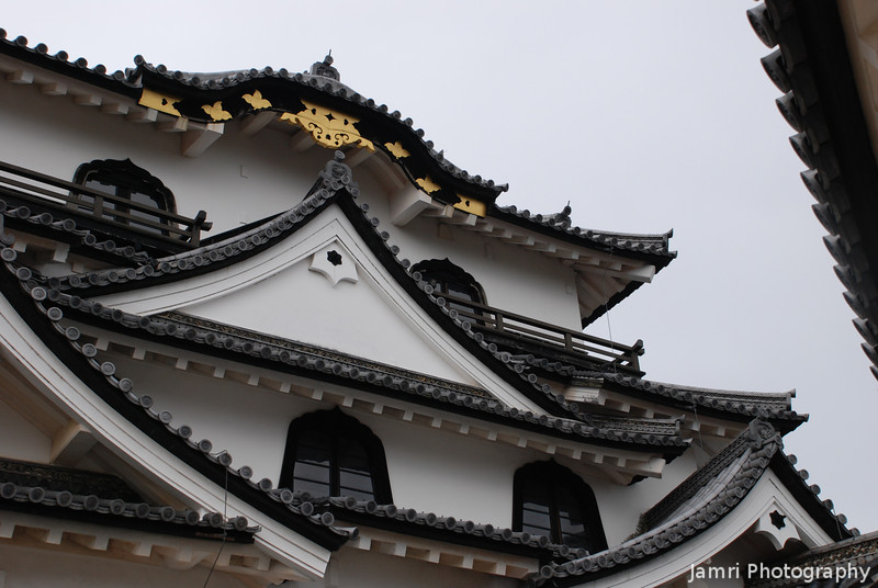 Castle Architecture Detail.<br /> It's the little details in the design of Hikone-jo (Hikone Castle) that make it unique amongst Japanese Castles. Especially the bell shaped windows.