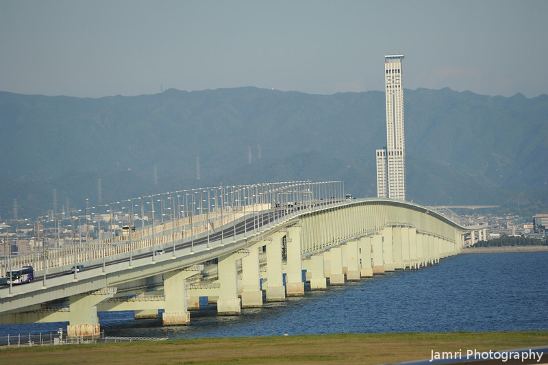 The 3km Long Bridge.<br /> It hard to tell in a telephoto shot, but this bridge from Kansai Airport back to Honshu is 3kms long.