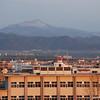 "Mt Atago with light Snow.<br /> As seen from ""Fune Mansion""."