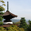 Treasure Pagoda at Jojakko-ji (a Buddhist Temple).<br /> This hillside temple has some pretty good views of some of Kyoto City.
