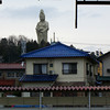 "Statue of Kwannon (The goddess of mercy).<br /> As view from Kagaonsen station.<br /> Did you know? Originally Canon (Japanese famous camera/office equipment maker) was called Kwanon after Kwannon. <a href=""http://www.canon.com/camera-museum/history/canon_story/1933_1936/1933_1936.html"">http://www.canon.com/camera-museum/history/canon_story/1933_1936/1933_1936.html</a>"