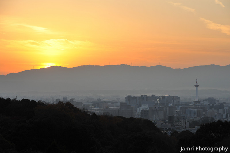 The Sunset over Kyoto.