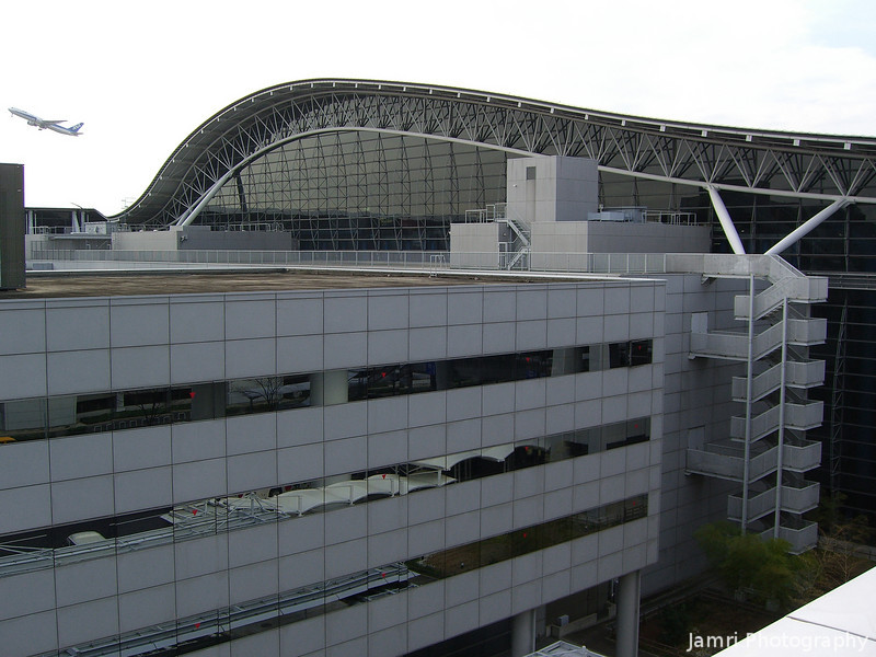 The Curved Roof of Kansai Airport.
