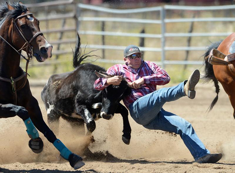 Steer wrestler Charles Harris